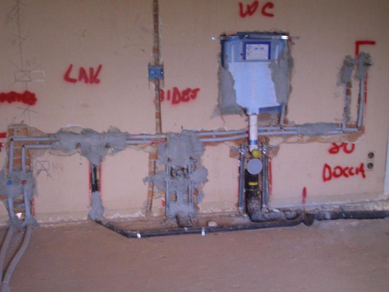 Impianti di distribuzione idrica e scarichi termoidraulica luise - Schema impianto scarico bagno ...